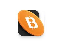 💰 iphone ios illustration ui blockchain currency crypto bitcoin mark logo icon app