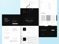 ☯️ Alvalor Landing Page mockup wireframe interface black and white block chain web lp website page landing ux ui