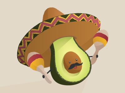 Avocado Fiesta sombrero avocado