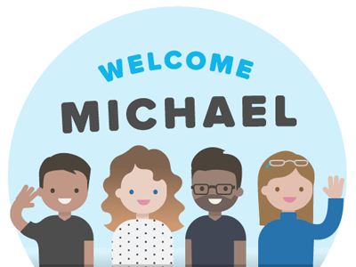 Welcome Michael new team illustration