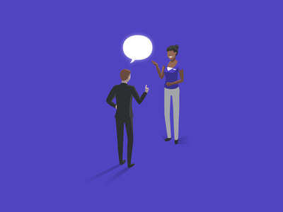 Customer Comment employee customer feedback comment glowing isometric