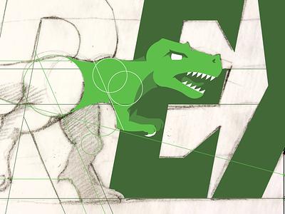 T-Rex Logo trex green vector logo dinosaur
