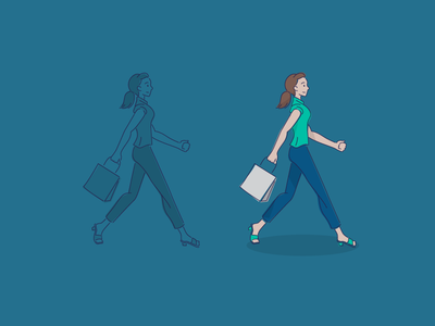 Shopping walk shopping vector line woman girl