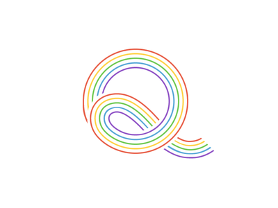 Q Rainbow coming out queer rainbow q