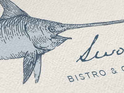 Swordfish Logo resturaunt logo ink swordfish
