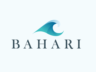 Bahari Logo curve gradient logo wave