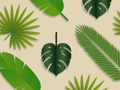 Tropical Leaf Pattern pattern palm philodendron plant vector leaf