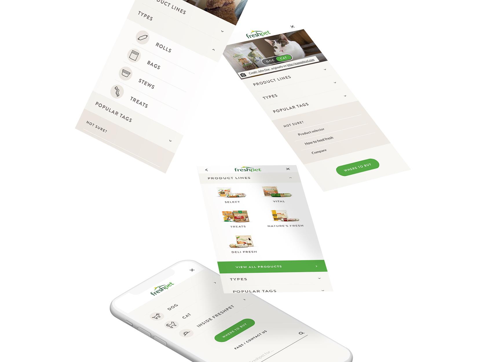 Mobile menu large