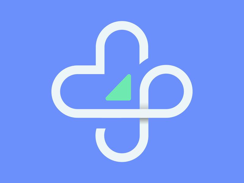Logo mark human infinity glyph heart logo design health branding icon logo