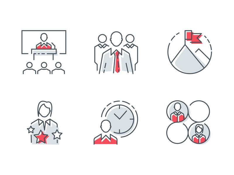 Icons icons line art illustrator management vector icon design
