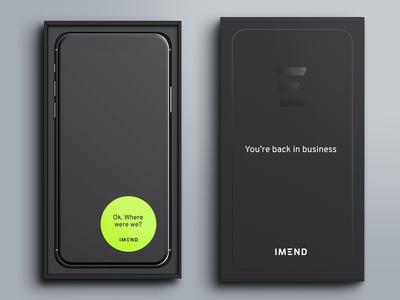 Packaging Design spot varnish black phone box box logo design logo branding packaging design