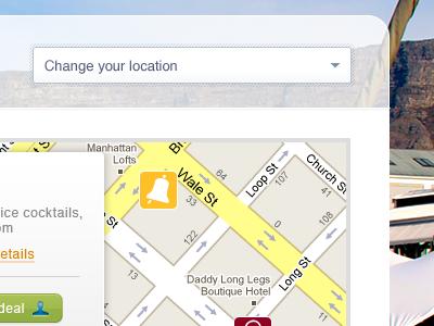 Location based whotsit transparent map location
