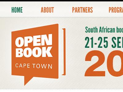 Open Book website logo menu date