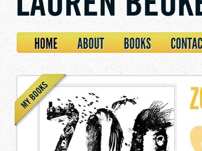 Author website yellow black ribbon books author