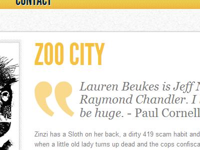 Zoo City yellow books quote