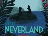 Neverland Travel Poster