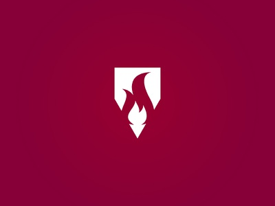 Boy's School Logo Concept icon mark illustration vector design writing flame fire