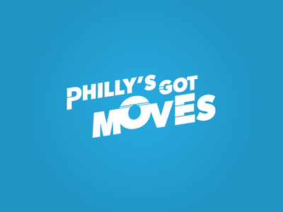 Philly's Got Moves Logo Concept direction movement white blue slant vector icon logo design moves philly