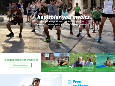 Philly's Got Moves Website Concept campaign simple clean flat vector photoshop indesign logo design website moves philly