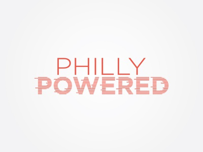 Philly Powered Logo mark icon powered movement simple power philly illusion vector logo