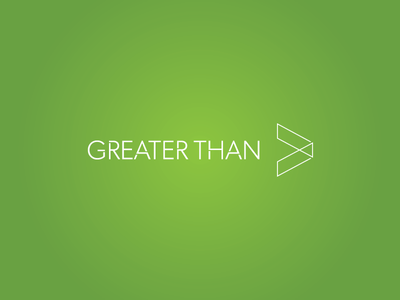 Greater Than Logo mark icon abstract simple medical health illusion vector logo