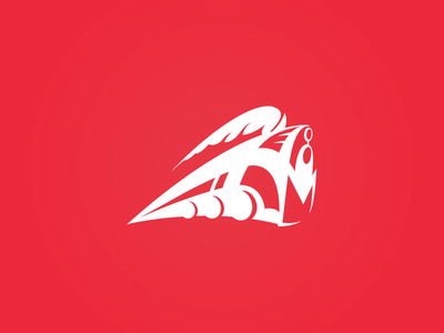 A Mighty Redesign concept design engine mighty red illustration movement power mark icon logo train