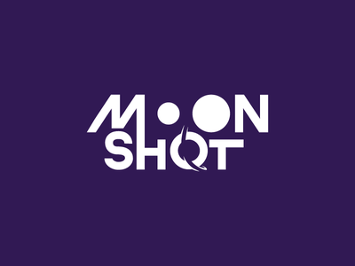 Moonshot Revisited planet start space rocket moon mark design icon logo vector illustration