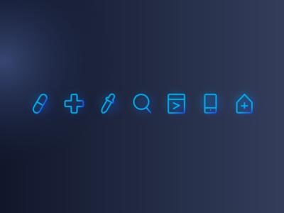 MVC Technology Website Minimal Icons