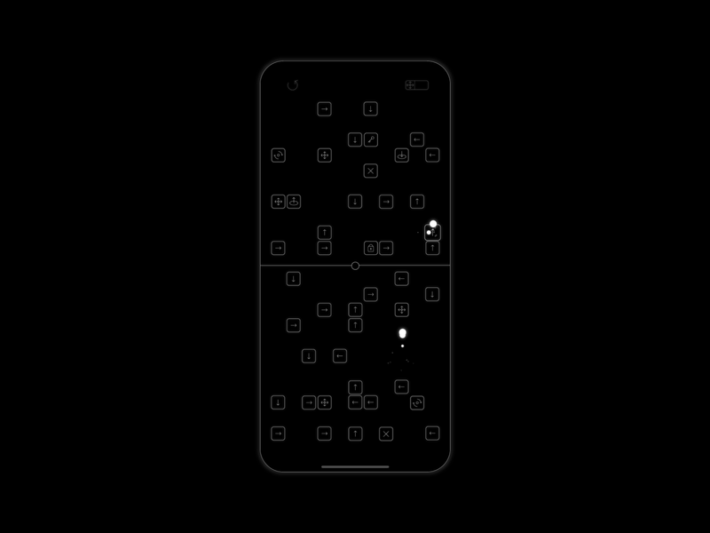 ½ Halfway - the mobile game lineart black and white ux ui app gaming puzzle relaxing minimalist white black design google play android app store game art game design game ios