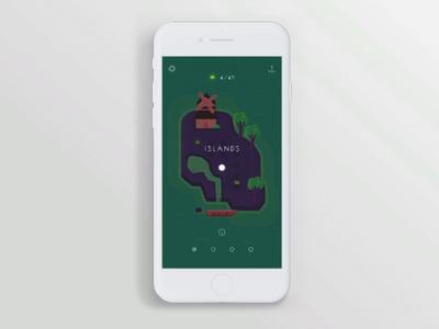 Game User Interface - Vestigium swipe level main menu mobile game user experience mobile game asset ui animation google play app store game art game design game ios