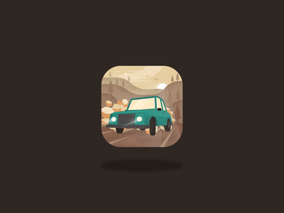 the longest drift - mobile game app icon vehicle icons application racing gaming forest dirt drift car ui mobile google play app store game design app design icon app game art game ios