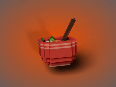 Blocky Sinigang na Hipon  - Famous Filipino Dish render 3d game design game art game animation soup filipino philippines dish food pixel voxel