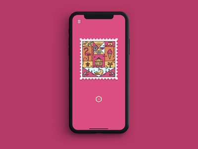 Memory Stamps - now available for pre-order! animation ui stamps puzzle memory flamingo tropical app game asset stamp illustration google play android app store game design game art game ios