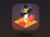 Game app icon: Knife Fruit Challenge
