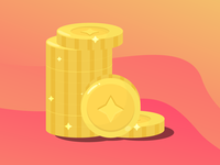 Coins for an upcoming mobile game.