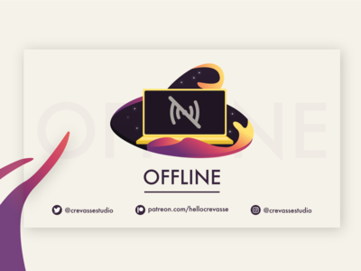 Offline Video Player Banner for Twitch