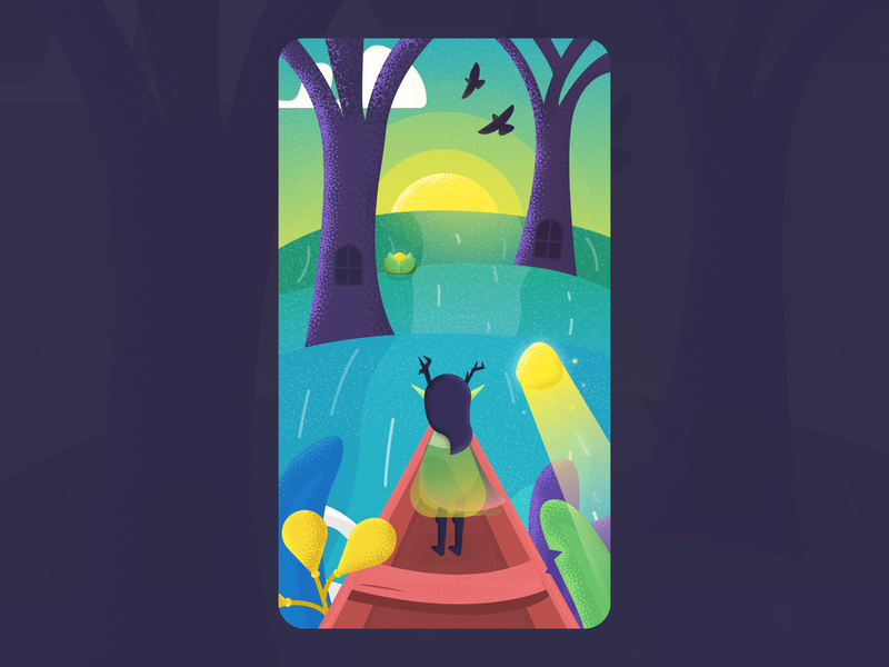 Adventure Awaits illustration animation mobile game game asset android ios google play app store game design game art colors grain swamp boat colorful