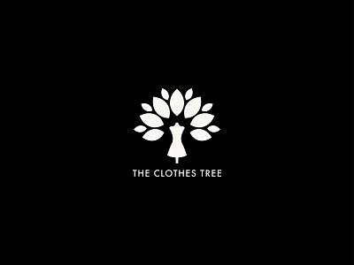 The Clothes Tree Logo women tree clothes futura boutique consignment the clothes tree fashion logo branding rebrand
