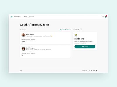 Acadium Freelance for Business Product Design rebrand payment education web design figma ui ux freelance home dashboard product design