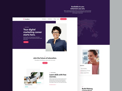 Acadium Website - Student Side wordpress web design and development rebrand interaction design web design web