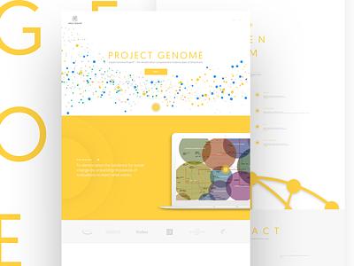 Impact Genome ui analytics yellow clean application web
