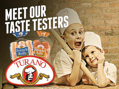 Turano Baking Co. Meet our Taste Testers Billboard Campaign print ads advertisement print design billboard design idea booth agency design branding billboard
