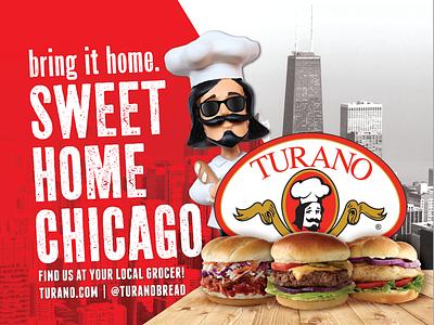 Turano Baking Co. Billboard Campaign outdoor advertising illustration advertisement billboard design print design idea booth agency design branding
