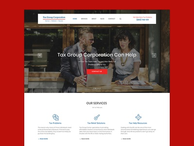 Responsive Tax Website