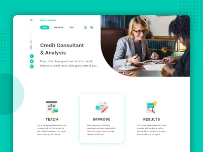 Credit Consultant Website minimalist finance app web  design landing page clean ui website ui design