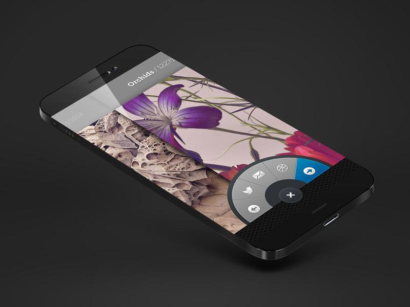 Photo App UI app phone ux ui photo interaction design