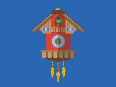 Cuckoo Clock illustration clock bird cuckoo