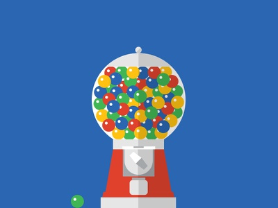 Gumball Machine illustration gum flat design machine gumball