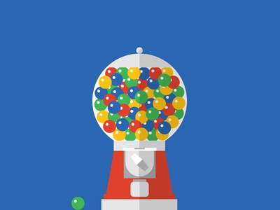Gumball Machine illustration gum flat design machine gumball