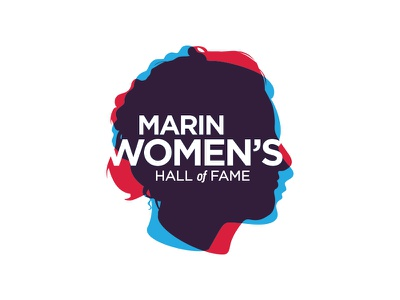 Marin Womens Hall Of Fame  transparency face profile silhouette logo